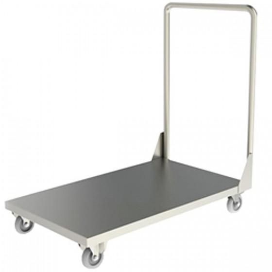 Carro plataforma em aço inox